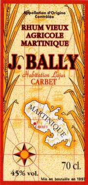 J. Bally Rhum Ambre label unavailable