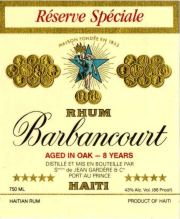 Barbancourt Special Reserve, Barbancourt Five Star label unavailable