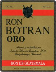 Botan - Ron Botran Oro label unavailable