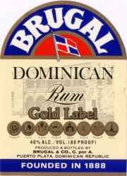 Brugal Gold Label label unavailable
