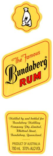 Bundaberg Rum label unavailable