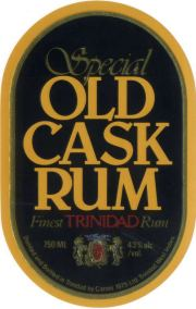 Caroni Special Old Cask Rum label unavailable