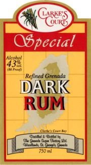 Special Refined Grenada Dark Rum label unavailable