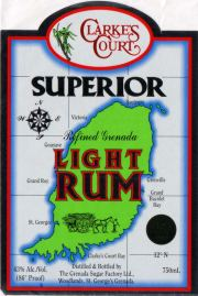 Clarke's Court Superior Light Rum label unavailable