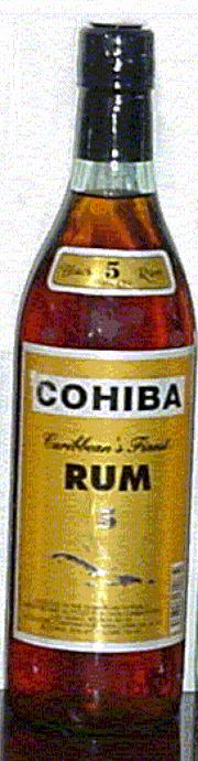 Cohiba Black Rum 5 Years Old label unavailable