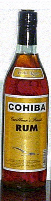 Cohiba Gold Rum label unavailable
