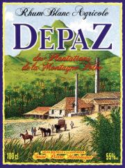 Depaz Rhum Blanc label unavailable