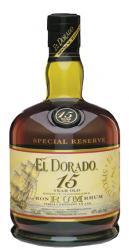 El Dorado 15 Year Old Special Reserve Demarera Rum label unavailable