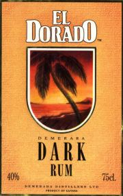 El Dorado Demarera Dark Rum label unavailable