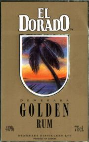 El Dorado Golden Rum label unavailable