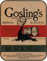 Gosling's Black Seal Rum 151 proof label unavailable