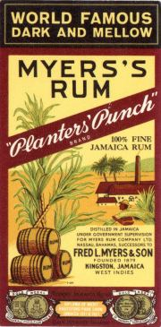 Myers's Original Dark Rum label unavailable