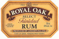Angostura Royal Oak Select label unavailable