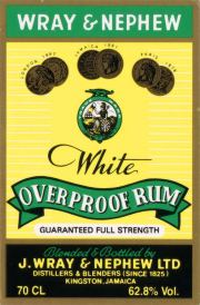Wray & Nephew White Overproof label unavailable